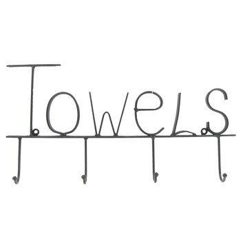 Black Metal Towel Hooks
