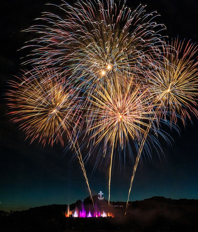 ˚Coast Guard Festival Fireworks 2013 - Michigan