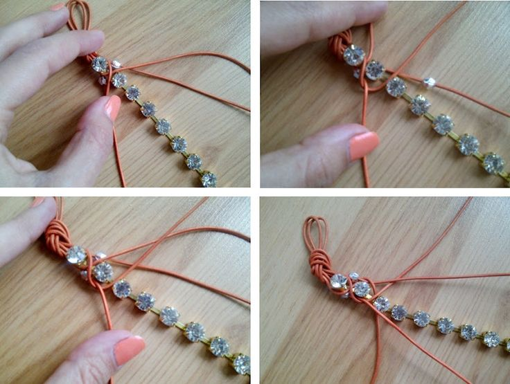 So this is what you do with those rhinestone strands! I have some and will have to try this... BERRİLLA: DIY/Rhinestone bracelet (taşlı bileklik yapımı)