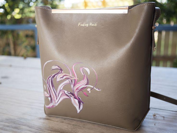 The Heidi bag Multi coloured pink design