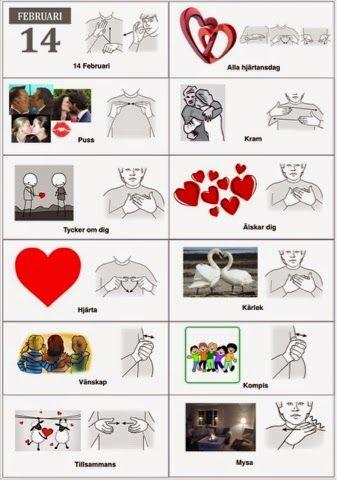 Tecken som stöd: Alla hjärtansdag ord 2