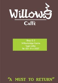 Menu - willowscaffe