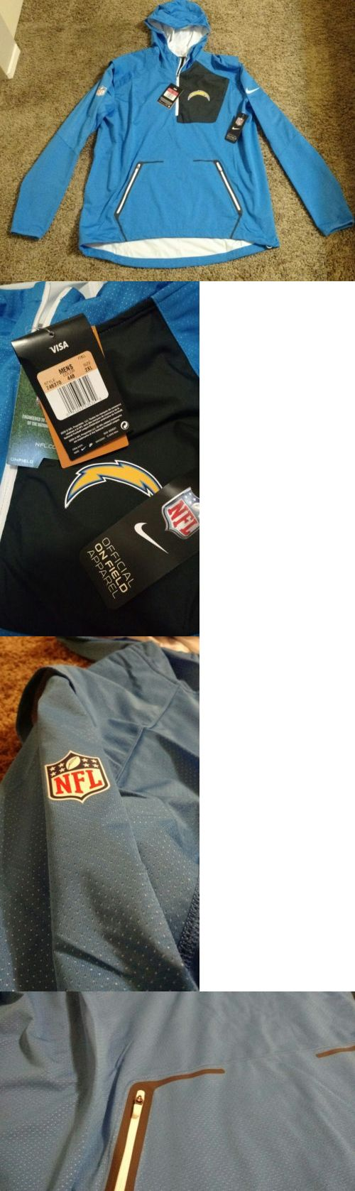 Football-NFL 206: Men S Nike Nfl Los Angeles Chargers Football Hooded Windbreaker Jacket 2Xl (Xxl) -> BUY IT NOW ONLY: $45 on eBay!