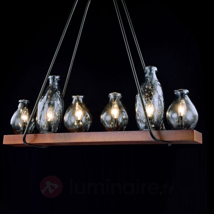 17 meilleures id es propos de lampes bouteille de vin - Suspension bouteille verre ...