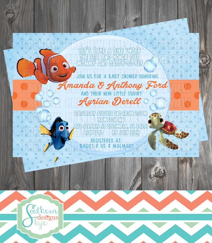 9 Best Finding Nemo Images On Pinterest Baby Showers