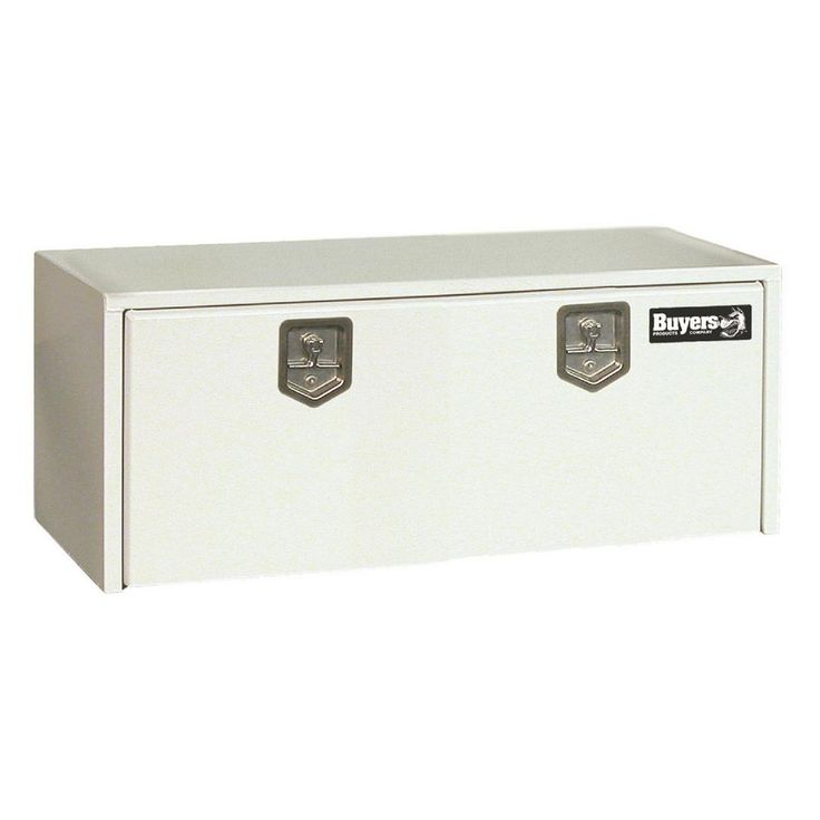 Buyers Products Company 30 in. White Steel Underbody Tool Box with T-Handle Latch