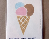 Awesome Potato Stamped Greeting Cards!!!  Handmade in Vancouver, BC   Happy Birthday!!