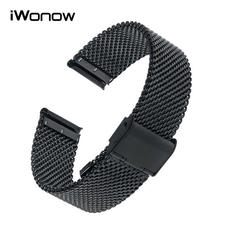 Milanese Stainless Steel Watchband +Tool for Oris Bell & Ross Rado Luminox Watch Band Wrist Strap Bracelet 18mm 20mm 22mm 24mm #Affiliate