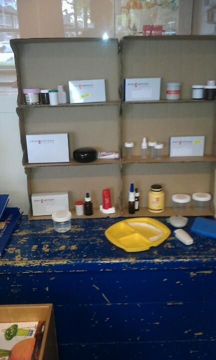 Spulletjes voor in de huishoek gekregen van de apotheek
