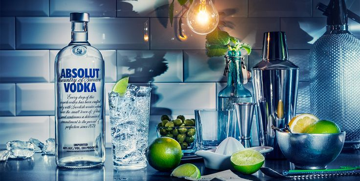 Absolut Vodka is rich, full-bodied and complex, yet smooth and mellow with a distinct character of grain, followed by a hint of dried fruit.