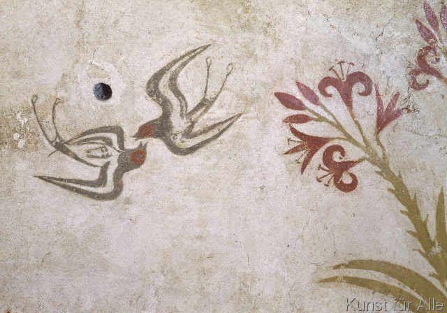 16. Jahrhundert v.Chr - Schwalbe / minoische Wandmalerei