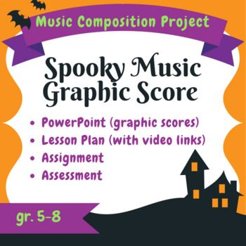 Spooky Halloween Graphic Score - Composition Lesson, Project, & Assessment Tools This music project combines scary movie music with non-standard notation and graphic scores to unleash student creativity! In this assignment, students will learn about the impact of music on the mood of movies (watching movie trailers that have been set to horror