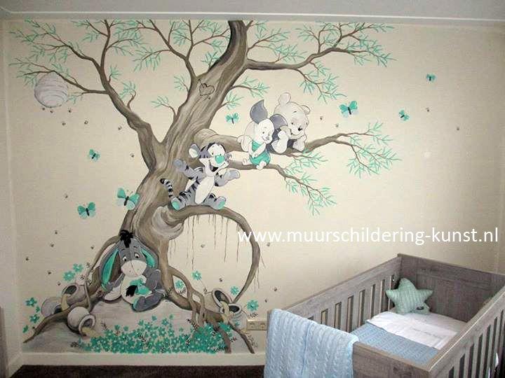 winnie the pooh muurschildering