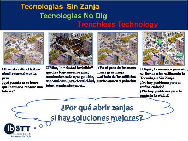 Las Tecnologías SIN Zanja reducen el tiempo de ejecución de las obras, las molestias a los ciudadanos y los costes económicos (hasta un 25%) respecto a las tecnologías convencionales.
