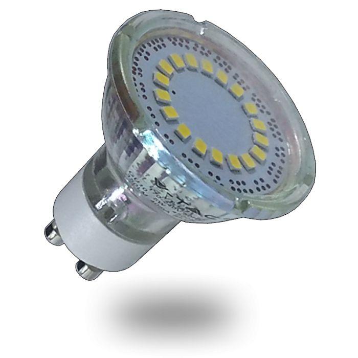 LED žiarovka GU10, 3W, denná biela, 200lm