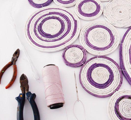 Mural com reciclagem de jornal - Portal de Artesanato - O melhor site de artesanato com passo a passo gratuito