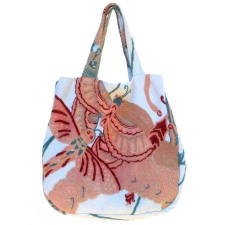 Papillon Shopping Bag handmade wool embroidered linen tissue! www.federicasalvatorifranchi.it