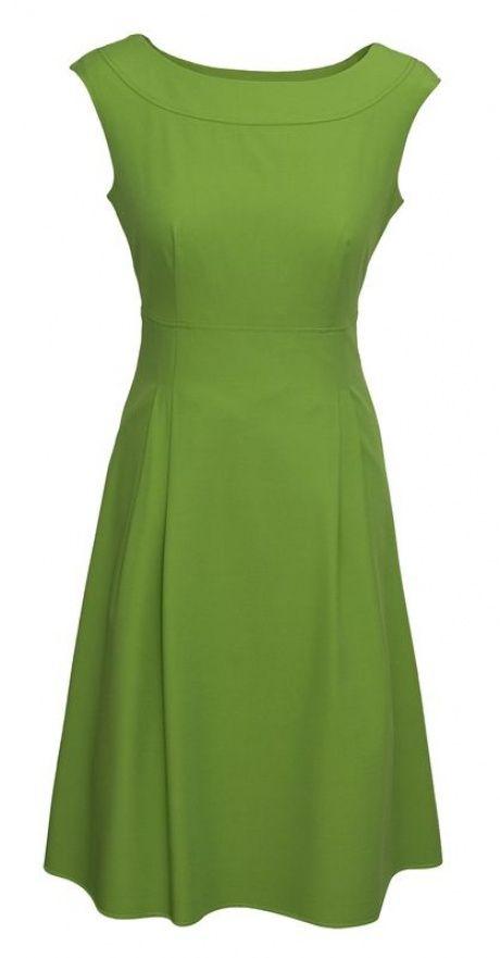Grünes Kleid in 50 Stil mit einem Boot-Ausschnitt Pretty One Kollektion Frühjahr-Sommer 2013 | AlleKleider24.de