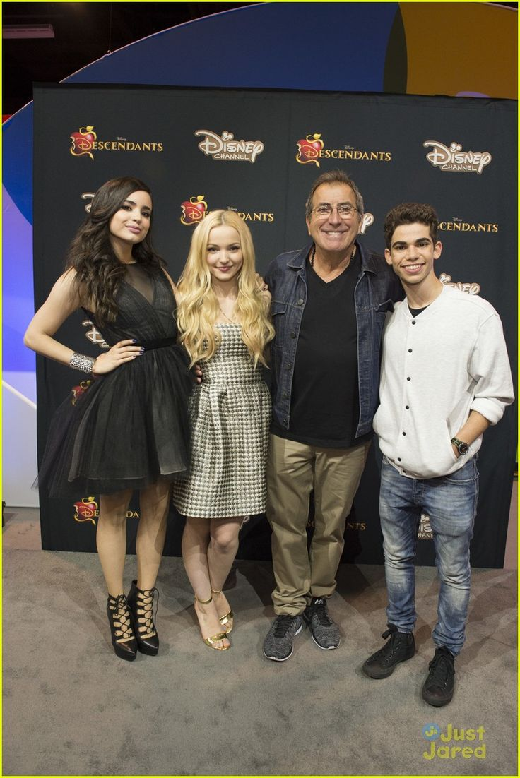 Sofia Carson, Dove Cameron, Cameron Boyce and Kenny Ortega at the D23 Expo 2015