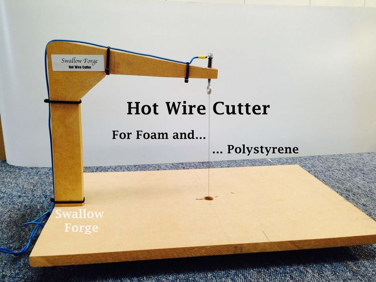 How to make a Hot Wire Cutter for foam or polystyrene. cosplay, lost foa...