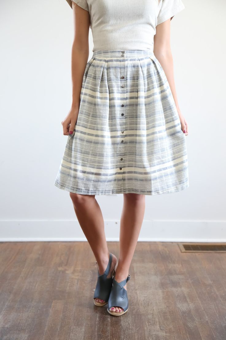 The Gabe Striped Skirt