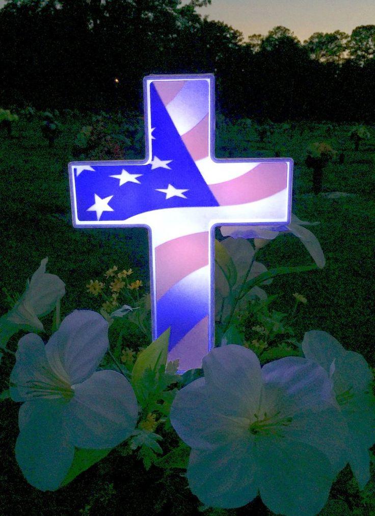 Eternal Light American Flag Cross American Flag Flag