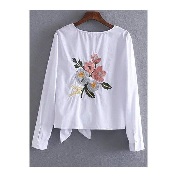 Shirts embroidered shirt top rose mind