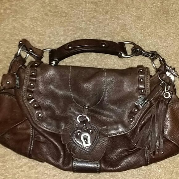 Juicy couture handbag brown leather Authentic juicy couture Juicy Couture Bags Shoulder Bags