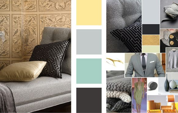 Robert Allen fabrics / Gilty Pleasure - Gold Leaf Color Palette