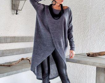 Off bianco calda lana Boocle camicetta maglia di SynthiaCouture