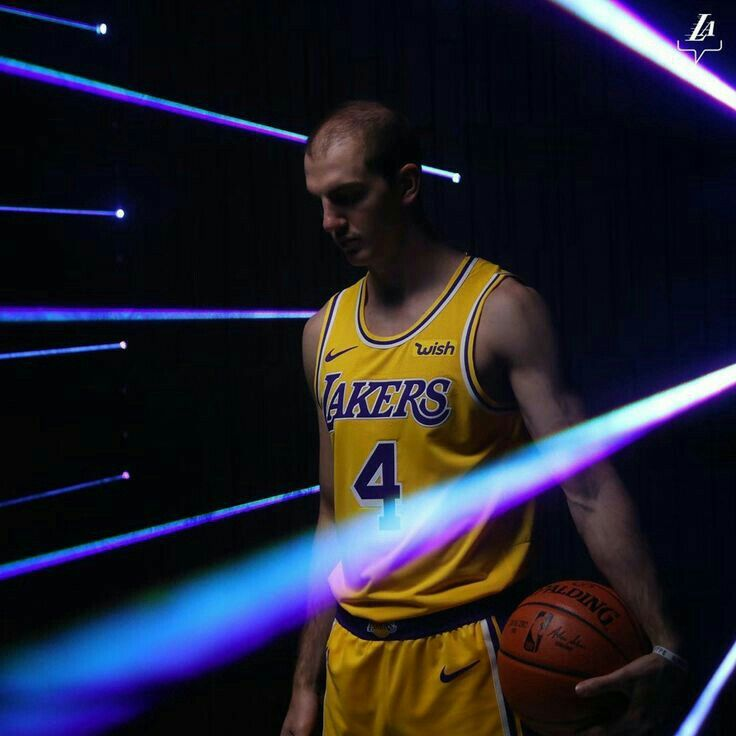 Alex Caruso Lakers Media Day Los Angeles Lakers Los Angeles Angels Lakers