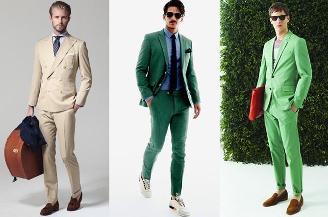 Фото мужских костюмов зелёного цвета