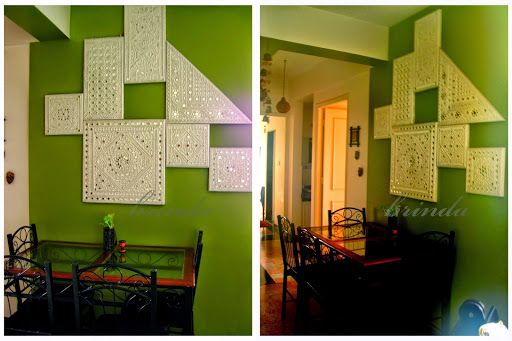 Lippan kaam (Mud Mirror art) from Kutch Gujarat, India - Beautiful Panels as Wall décor
