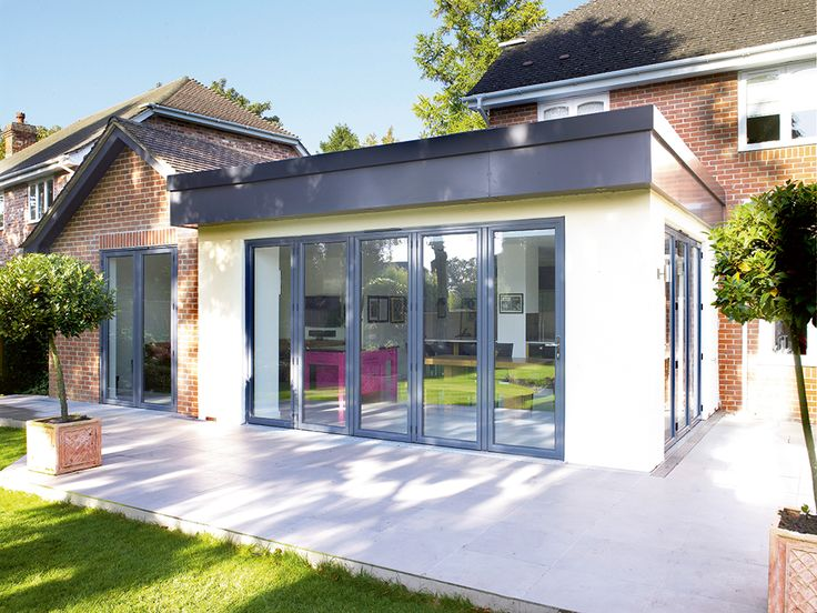 Open-plan extension in a detached home