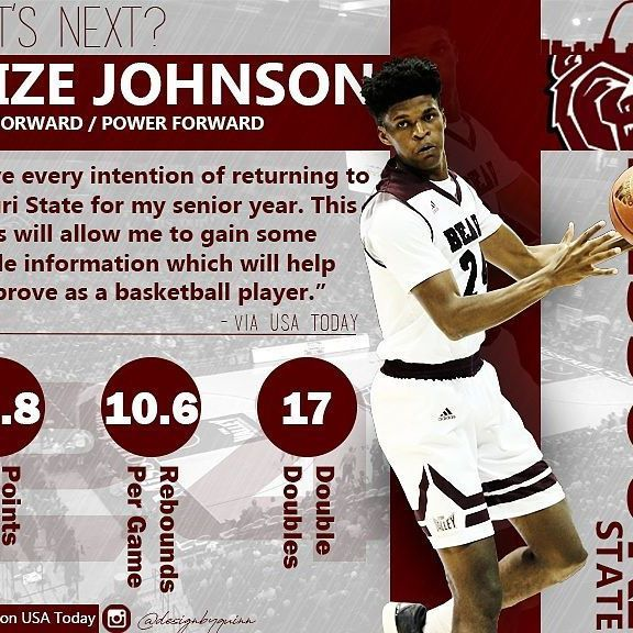 Instagram blew the quality... oh well. Infograohic on Alize Johnson, a local guy who entered the NBA draft then Withdrew. This is what he had to say. Tag him below!!! @alizejohnson24! - #24 #nba #college #basketball #missouri #state #missouristate #bears #missouristatebears #USAtoday #today #usa #rebounds #doubledouble #instagram #like #followers #collegebasketball #points #per #game #design #graphic #infographic #infograph #sports #small #power #forward #nbadraft