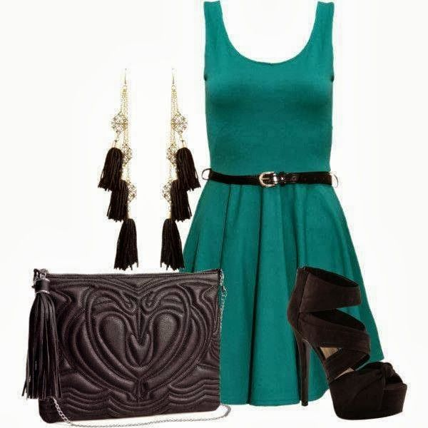 Charming Party Dress With Black High Heel Click the picture to see more
