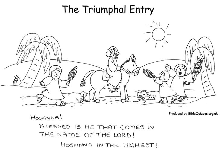 Sunday School Coloring Page The Triumphal Entry Into Jerusalem