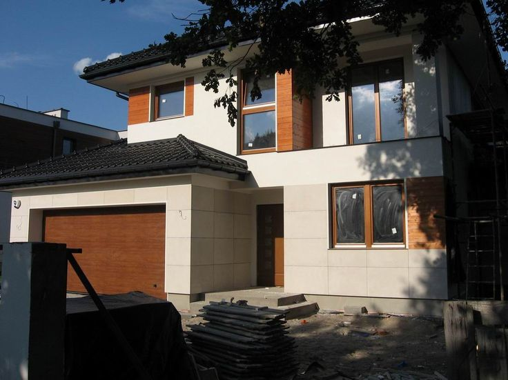 Widok frontu  #dom #projekt #budowa
