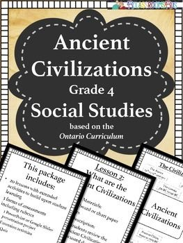 Ancient Civilization - Social Studies - Grade 4