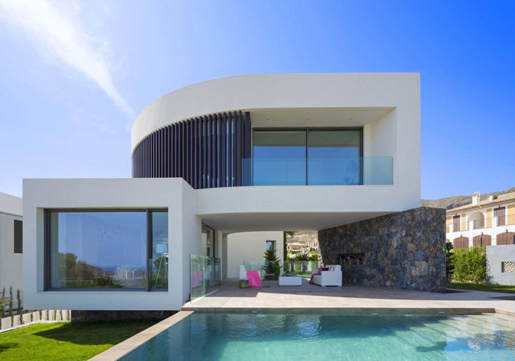 Mediterranean Finestrat villa with the sea in the horizon designed by ...