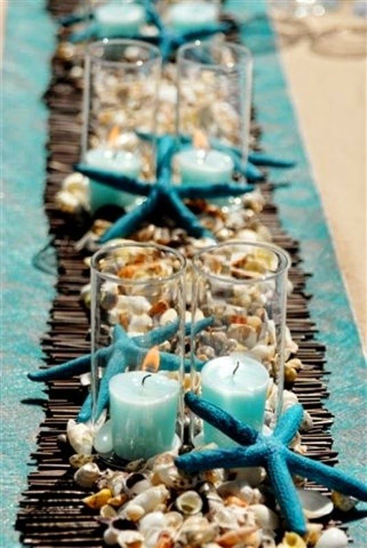 Beach Wedding Centerpieces | http://simpleweddingstuff.blogspot.com/2014/04/beach-wedding-centerpieces.html