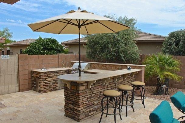 Arizona U Island Plan Outdoor Kitchen Island Outdoor Kitchen Design Backyard Patio Designs