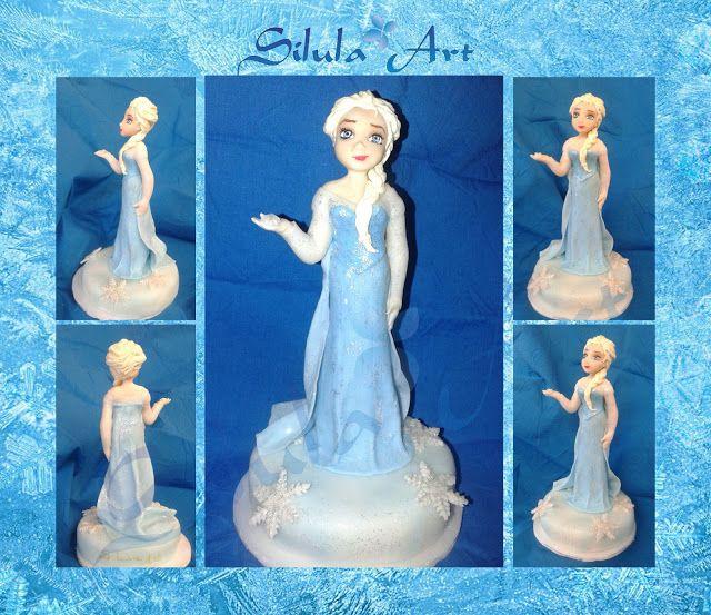 Silula Art: Cake Topper Elsa di Frozen