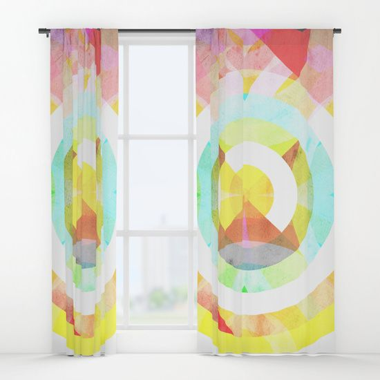 'Boxular' Curtains by Fimbis on Society6 Abstract, circular, circles, colourful, colourful, fashion, design, interiors, home decor, style, window dressing,