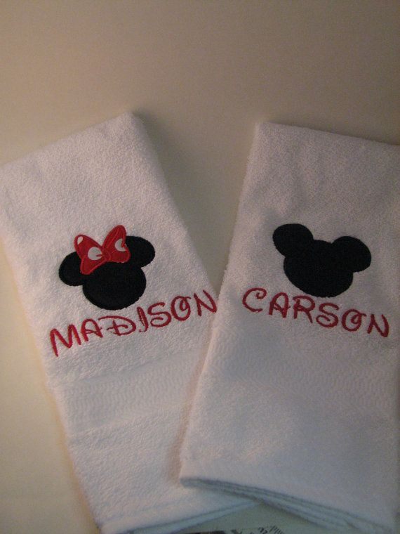 Disney Towels Minnie and Mickey Mouse by embroideryboutique121 best Disney Bathroom images on Pinterest   Kid bathrooms  . Disney Bathroom. Home Design Ideas
