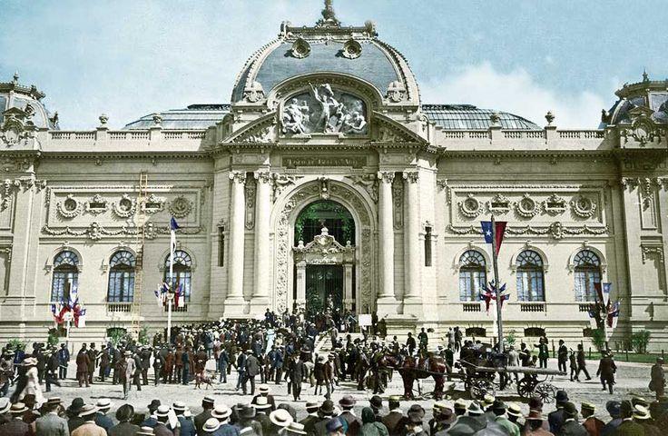 Inauguración del Museo de Bellas-Artes de Santiago en 1910