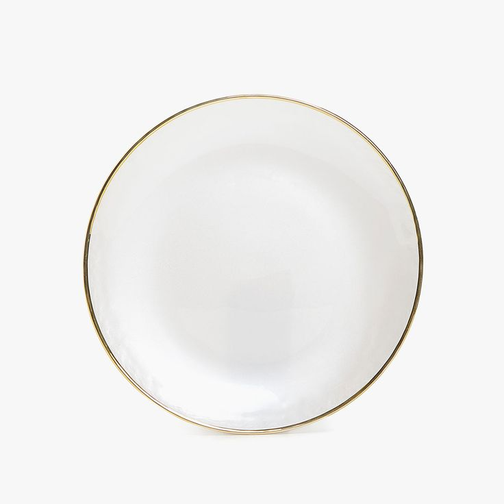 Zara Home - GOLD-RIMMED GLASS CHARGER PLATE