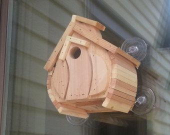 Outhouse for Wrens Cedar Bird House Wooden by builtathomebyjohn