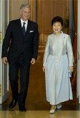 Thursday, November 7, 2013, His Majesty King Philippe of Belgium held an audience with the President of South Korea, Park Geun-hye, at Château de Laeken