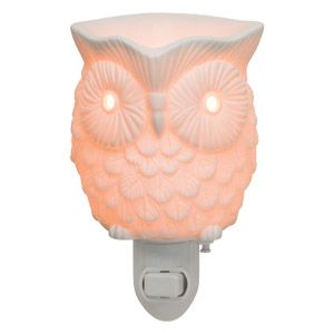 Whoot is a finely detailed warmer that glows golden when on. Flip the switch and watch this symbol of wisdom come to life.